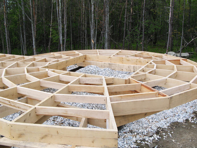 Smith & McClain, Yurt decking foundation, VT