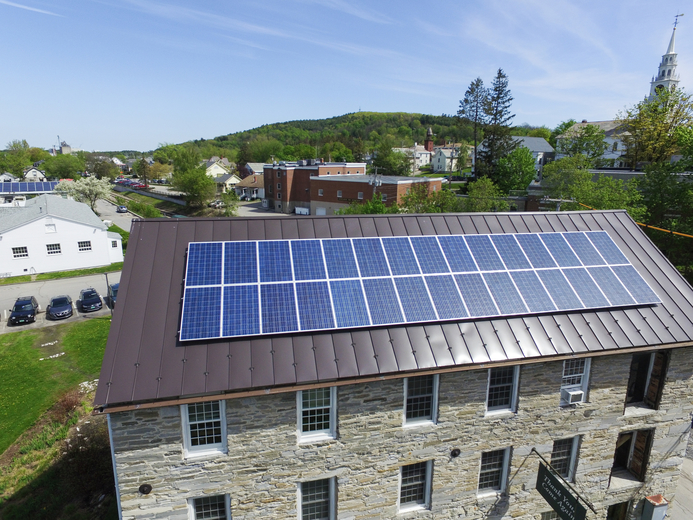 Solar on Historic Building in Middlebury, Vermont
