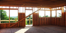 Smith & McClain, Middlebury townhouse framing, VT