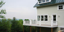 Smith & McClain, Middlebury townhouse exterior deck, VT